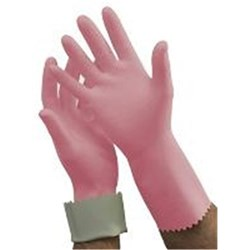 Gloves Premium Pink Size 6.5 Silverlined Latex Box 12 Prs