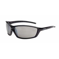 PROWLER Safety Glasses Black Frame Silver Flash Lens