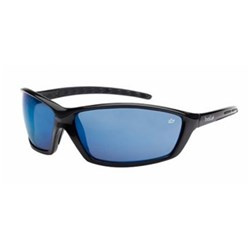 PROWLER Safety Glasses Black Frame Blue Flash Lens