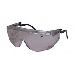 OVERRIDE Safety Glasses 45g Smoke Over Prescrip Adjust Arm