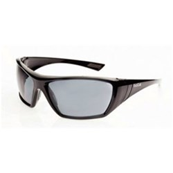 HUSTLER Safety Glasses Smoke Lens Black Frame
