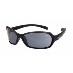 HURRICANE Safety Glasses Black Frame Smoke Lens 26g