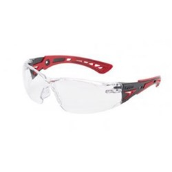 RUSH PLUS Safety Glasses Clear Lens Red Template 27g