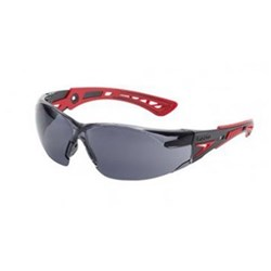 RUSH PLUS Safety Glasses Smoke Lens Red Template 27g