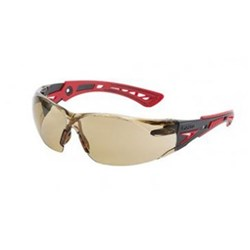 RUSH PLUS Safety Glasses Twilight Lens Red Template 27g