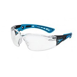 RUSH PLUS SMALL Safety Glasses Clear Lens Blue Template 27g