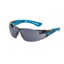 RUSH PLUS SMALL Safety Glasses Smoke Lens Blue Template 27g