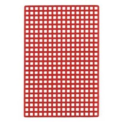 BEGO Wax Grid Retention with Round Holes Red Pack of 20