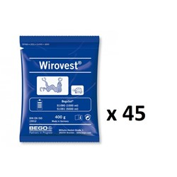 WIROVEST 400g x 45 Sachets 18kg Investment Material