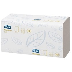 TORK Soft Hand Towel Interfold H2 150 shts 25.5x21cm Ctn of21