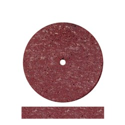 Acrylic Wheel Red Coarse 22.2 x 3.2mm Pack of 10