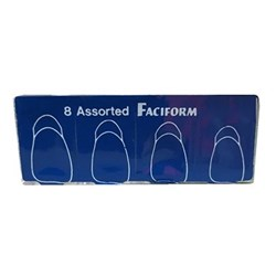 CROWN FORM Faciform Transparent  #11 Pk of 8