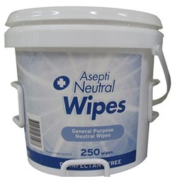 ASEPTI Neutral Detergent Wipes Heavy Duty Pail of 210 Wipes