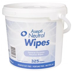 ASEPTI Neutral Detergent Wipes General Purpose Pail 325 Wipes