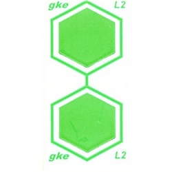 GKE Small Cleaning Process Indicator Green Pack of 320