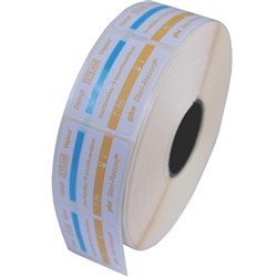 GKE LABEL Yellow Self Adhesive with Process Indicator x 800
