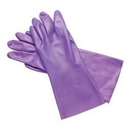 Gloves LILAC UTILITY Nitrile Size 9 Large 3 pairs