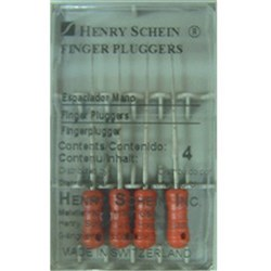 Finger Plugger HENRY SCHEIN 25mm Yellow Pack of 4