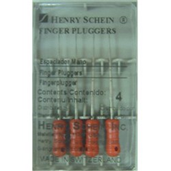 Finger Plugger HENRY SCHEIN 21mm Red Pack of 4