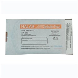 Sterilisation Pouch HALAS 90 x135mm Box of 200