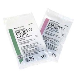 HENRY SCHEIN Prophy Cup Grey Screw Type Web&Ribbed Soft x36