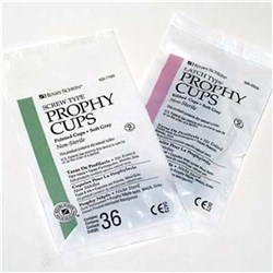 HENRY SCHEIN Prophy Cup Latch Ribbed Soft Grey Pack of 36