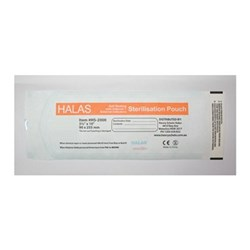 Sterilisation Pouch HALAS 90 x 255mm Box of  200