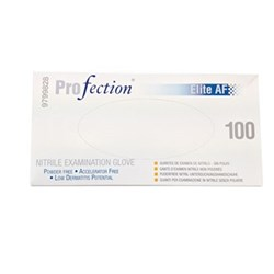 Profection Nitrile Accelerator Free PF size XS Box of 100