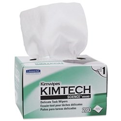 KIMTECH Kimwipes 21 x 11cm Box of 280 Sheets Carton of 30