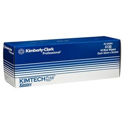 KIMTECH Pop up Wipers Blue 42 x 34.5cm Box 40 Pack 160