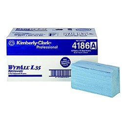WYPALL L30 Grab n Clean Tissue Wipers Blue 42x24cm 10 Pks 75