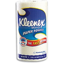 KLEENEX Kitchen Towel White 60 sheets Carton of 6 rolls