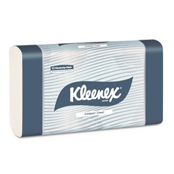 KLEENEX Compact Towel white 19.5 x 29cm 90 sheets Pk of 24