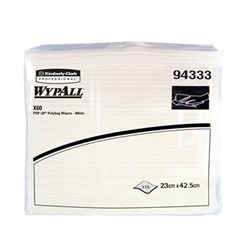 WYPALL X60 Pop Up Wipes White Cloth 23 x 42.5cm Pack of 115