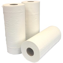 CLINI CLEAN Paper Towel White 24.5cm x 50m Roll