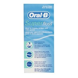 ORAL B Super Floss Unwaxed 50m Pack of 6