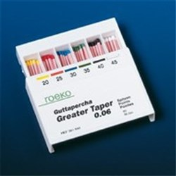 ROEKO GP Points Greater Taper Size 25 0.06 Taper Box of 60