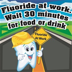 Fluoride at Work Stickers Novelty Designs Roll of 100
