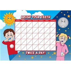 Brushing Chart Dry Erase Board Pack of 12