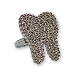 Bling RING Silver Tooth Pack of 144