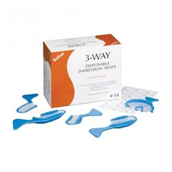 3WAY Disposable Impression Trays Intro Pk Asst Box 40