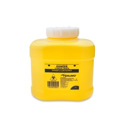 TERUMO Sharps Container 6L Yellow 230x210x240mm