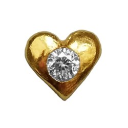 Twinkles Heart with Diamond 0,010ct Gold 22k