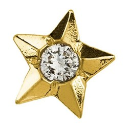 Twinkles Star with Diamond 0,010ct Gold 22k