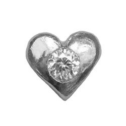 Twinkles Heart with Diamond 0,01ct White Gold 18k