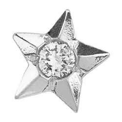 Twinkles Star with Diamond 0,01ct White Gold 18k