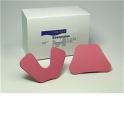 Vertex Base Plates Upper Pink Box of 100