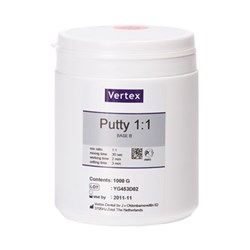 VERTEX Putty 1 to 1 Shore A of 85 2 x 1kg  A plus B