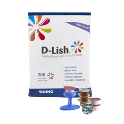 D-Lish Prophy Paste Medium Cherry Pack of 200