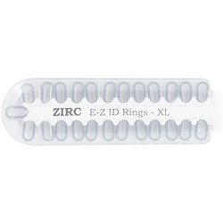 E Z ID Rings for Instruments XLarge White Pack of 25